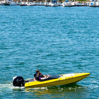 Drive your own speed boat in San Diego Bay