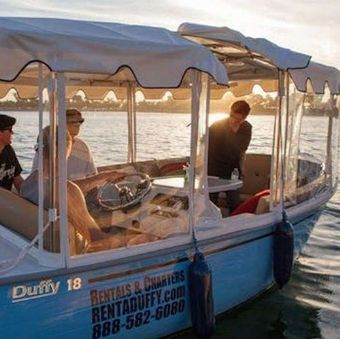 Mission Bay Private Snug Harbor Duffy Boat Rental