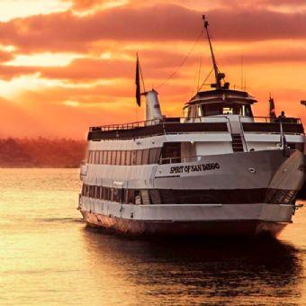 San Diego Harbor Cruise on San Diego Bay at Sunset
