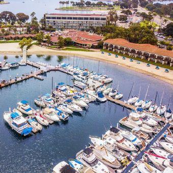 Aerial view of Bahia Resort Hotel
