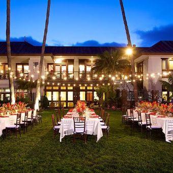 Night meeting setup, Catamaran Resort Hotel and Spa