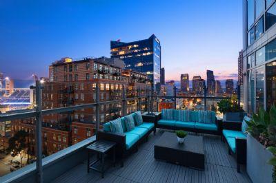 Terrace rooftop view, Hotel Indigo San Diego Gaslamp Quarter