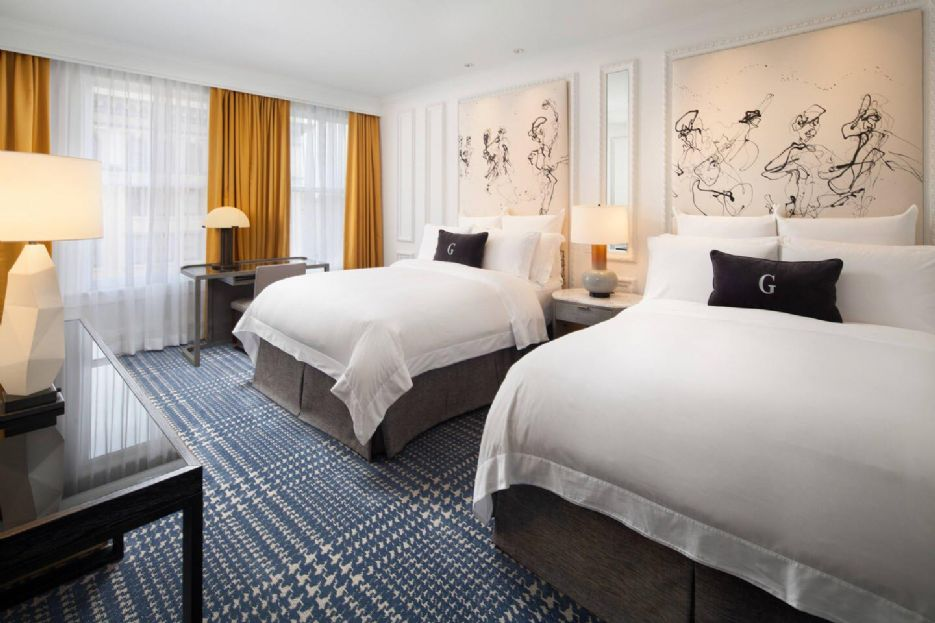 Double deluxe room, The US Grant, a Luxury Collection Hotel, San Diego