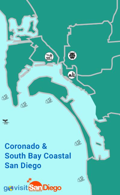 Coronado Island & South Bay San Diego Neighborhoods Map