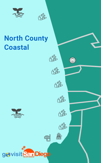 North County San Diego Beach Map