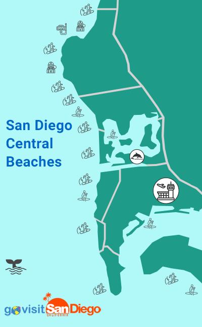 San Diego Central Beach Map