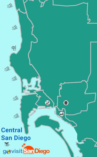 San Diego Central Neighborhoods Map