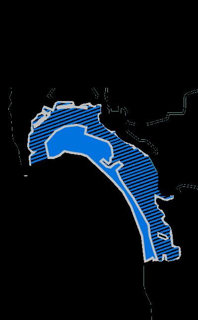 Coronado Island & San Diego Bay Boundries